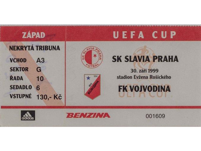 Vstupenka oVstupenka SK Slavia Praha vs. FK Vojvodina UEFA 1999DSC 4605