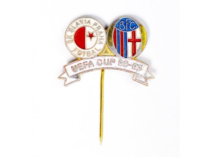 Odznak SK Slavia Praha vs. BFC, UEFA 98 99DSC 4601