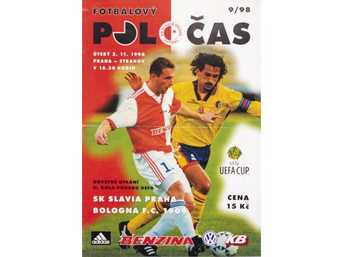 Fotbalový POLOČAS SK SLAVIA PRAHA vs. Bologna FC 1909, velkýDSC 4671