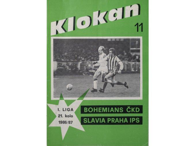 Program Klokan, Slavia Praha vs. Bohememians ČKD, 1987DSC 4714