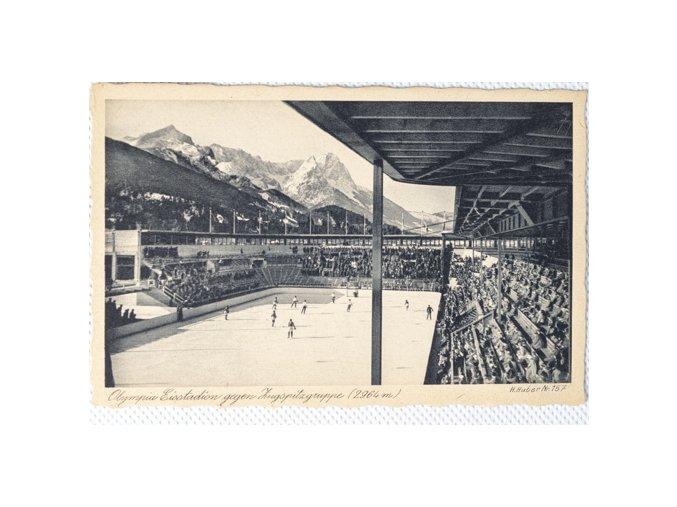 Pohlednice Olympia Eisstadion Garmisch Partenkirchen, hockeyDSC 5685