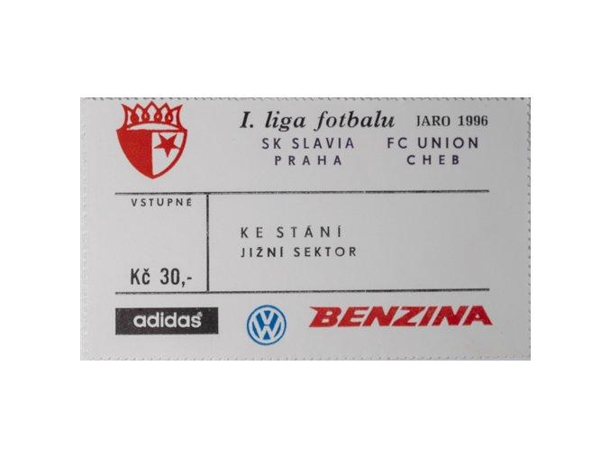 Vstupenka fotbal SK Slavia Prague vs. FC Union ChebDSC 5682