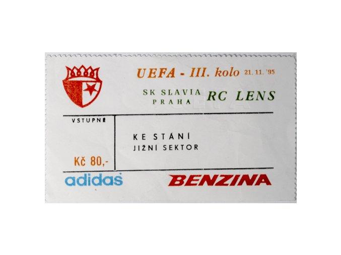 Vstupenka fotbal SK Slavia Praha vs. RC LanceDSC 5687