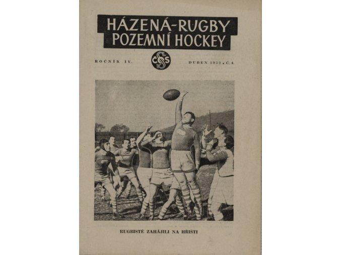 Časopis Házená Rugby Pozemní hockey, č.4 házenkářky SlaviaDSC 6399