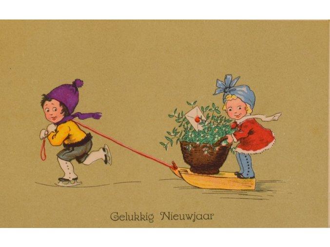 sprt antique 6 17 (103) Pohlednice k Novému roku