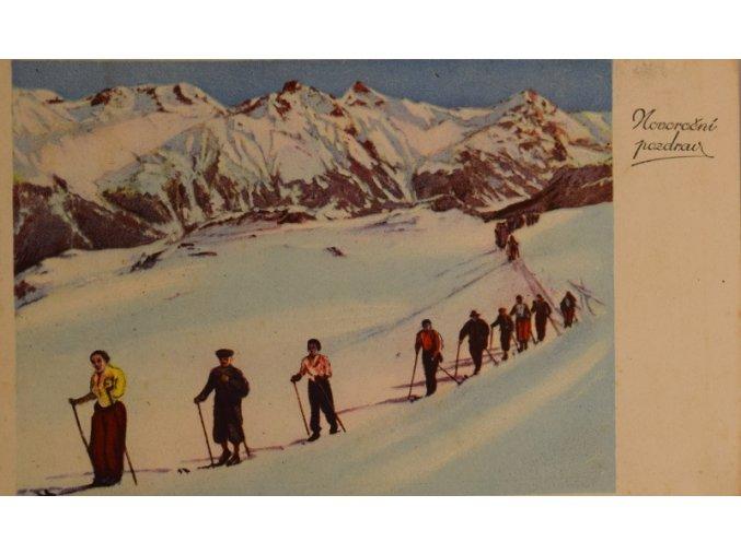 sprt antique 6 17 (44) Pohlednice 14 x 9 cm.Prošlá, bez známky. Vzadu pozdravy rodině Pospíšilově.