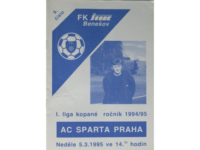 Program fotbal, FK Švarc Benešov vs. AC Sparta Praha, 1995DSC 9129
