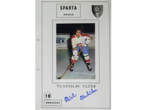 Podpisová karta s fotografií, HC Sparta Praha, Vladislav Vlček