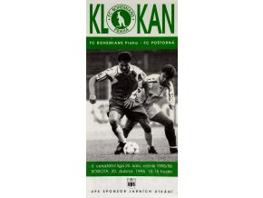 Program Klokan, FC Bohemians Praha vs. FC Poštorná, 1996Program Klokan, FC Bohemians Praha vs. FC Poštorná, 1996