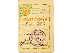 Průkaz členský SOKOL, 1918 (1) 1