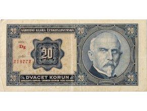 Bankovka, 20 Korun, serie Dg Rašín, 1926 (1)
