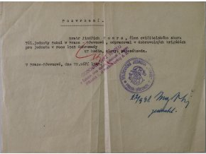 Dokument SOKOL, Oznámení o dobrovolné brigádě, 1948 II