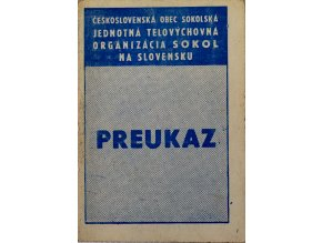Preukaz JTO Sokol na Slovensku, 1950 (1)