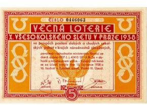 Věcná loterie X. všesokolského sletu v Praze 1938