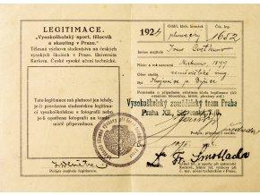 Legitimace, Vysokoškolský sport, tělocvik a skauting v Praze, 1924