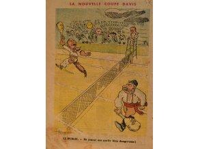 Politická karikatura Davis cup Stalin vs. Truman III sport antique 30 7 17 (101)