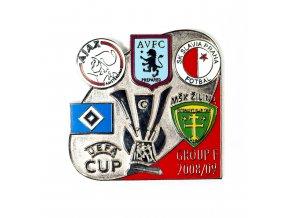 uefa, group F 2008 2009pin (motýlek+dřík)