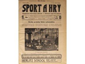 Sport a Hry, Hollandské representační mužstvo a S.K. Slavia, 1906 (1)