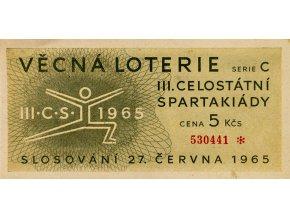 Los Věcná loterie III. Československé spartakiády, 1965 I