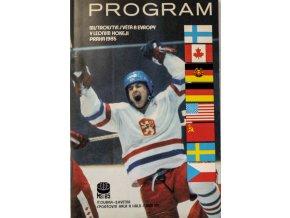 Program MS Lední hokej, Praha, 1985