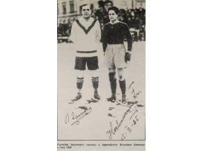 Výstřižek z novin Hichman, Zamora, kopie fotografie z roku 1925