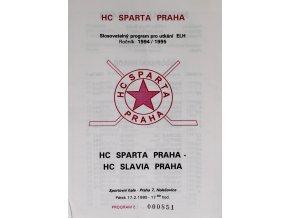 Program hokej, HC Sparta Praha vs. HC, Slavia Praha, 1995