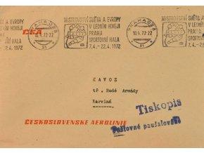 Obálka příležitost s razítkem hokej 1962 letecky tisk sport antique cervec 17 (136)