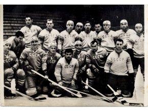Pohlednice foto CCCP hokejové mužstvo 1964, ZOH Insbruck (1)