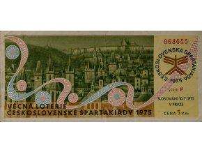 Los Věcná loterie Československé spartakiády, F,1975