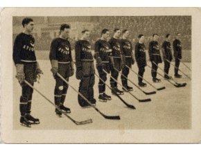 Kartička sběratelská ILSA, 1934, Hockeyový tým Kanady, 203