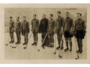 Kartička sběratelská ILSA, 1934, Hockeyový tým Československa, 209