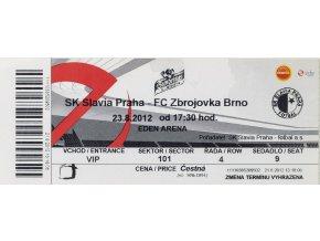 Vstupenka fotbal SK Slavia Prague vs. FC Zbrojovka Brno, 2012DSC 0412