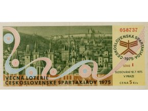 Los Věcná loterie Československé spartakiády, I,1975