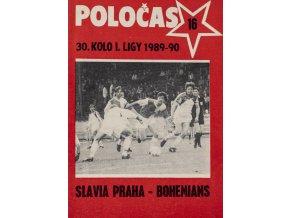 POLOČAS SLAVIA PRAHA vs. Bohemians, 1989 90