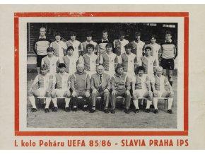 Program UEFA, Slavia vs. St. Mirren F.C., 1985 86 (1)