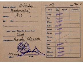 Žákovský průkaz Československá obec sokolská II (2)