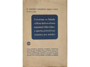Brožura, II. Celostátní konference Sokola v Praze, 1950