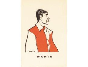 Karta 15 fotbalistů SLAVIE v karikaturách Haďáka, Wania 1