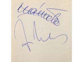 Sběratelská karta, podpis Plánička a Viktor, 1981 (1)