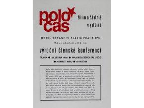 POLOČAS SLAVIA mimořádné vydání 1985