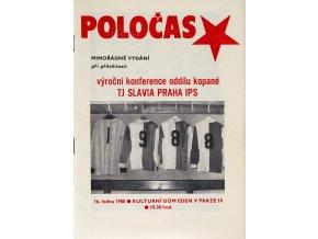 POLOČAS SLAVIA mimořádné vydání 1987