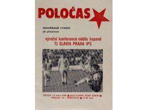 POLOČAS SLAVIA - mimořádné vydání 1988