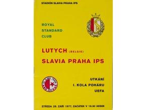 POLOČAS SLAVIA vs. lUTYCH, UEFA, 1977 (1)