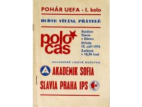 POLOČAS SLAVIA PRAHA IPS vs. AKADEMIK SOFIA, UEFA, 1976 (1)