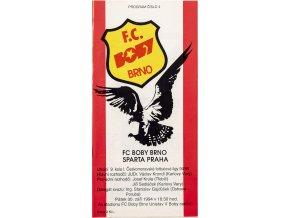 Program fotbal FC Boby Brno vs. Sparta Praha, 3494