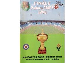 Program Finále ČP Sparta Praha vs. Bobvy Brno, 1993