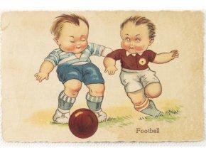 Pohlednice homorná Football (1)