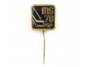 Odznak hokej, MS Praha, 1978, Black (2)