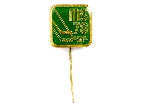 Odznak hokej, MS Praha, 1978, Green