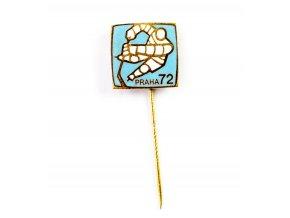 Odznak hokej, MS Praha, 1972, Blue